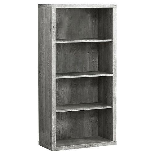 Bookcase - 48-inch H Grey Wood Grain Adjustable Shelves