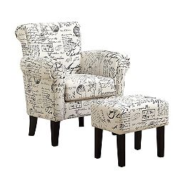 Accent Chair - Vintage French Fabric (Set of 2)