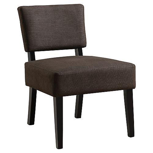 Accent Chair - Dark Brown Fabric