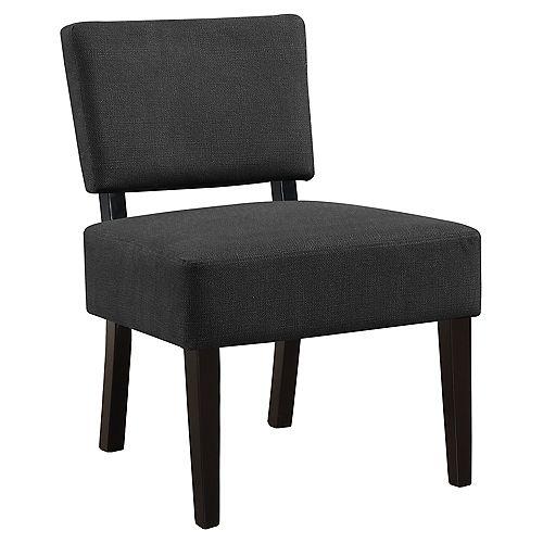 Monarch Specialties Accent Chair - Dark Grey Fabric