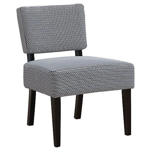 Accent Chair - Light Dark Blue Abstract Dot Fabric