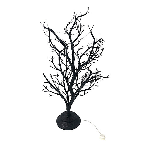Plastic Lit Black Tree Plant with Try Me