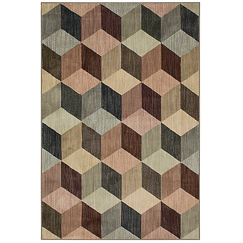 Apley Multi-Colour 5 ft. x 7 ft. Woven Indoor Area Rug