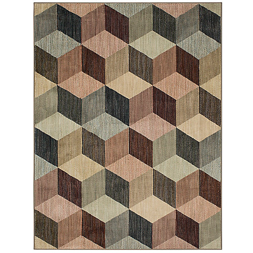 Apley Multi-Colour 8 ft. x 10 ft. Woven Indoor Area Rug