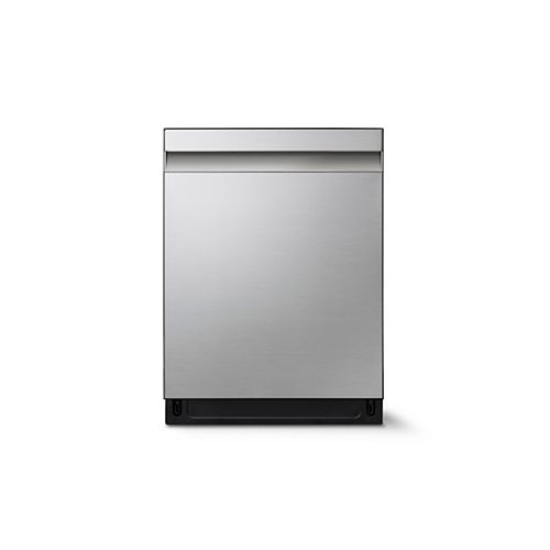 24-inch Top Control Dishwasher in Stainless Steel with Stainless Steel Tub, 39 dBA