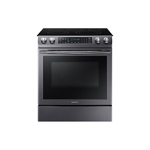 31-inch 5.8 cu.ft. Slide-In Electric Range with Self-Cleaning Convection Oven in Black Stainless Steel