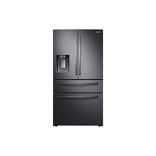 36-inch W 28 cu. ft. French Door Refrigerator in Fingerprint Resistant Black Stainless Steel - ENERGY STAR®