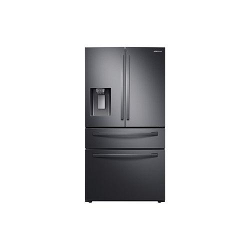 36-inch W 28 cu. ft. French Door Refrigerator in Fingerprint Resistant Black Stainless Steel, Standard Depth - ENERGY STAR®