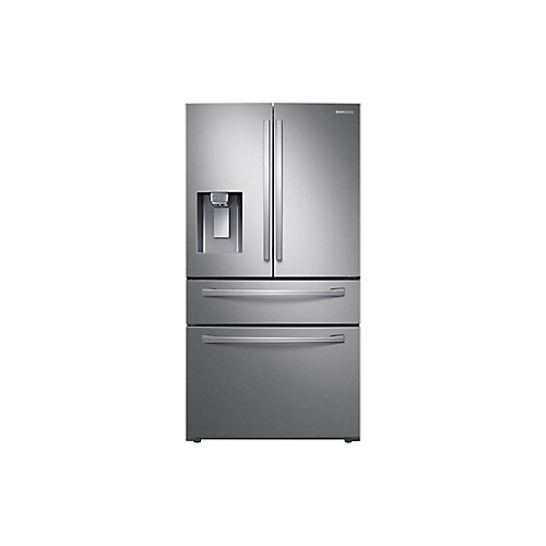 36-inch W 24 cu.ft. French Door Refrigerator in Stainless Steel, Counter Depth - ENERGY STAR®