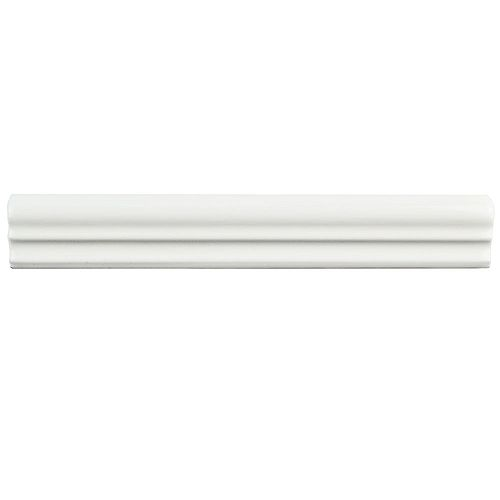 Blanco Brillo Zen 1-1/4-inch x 7-7/8-inch Ceramic Moldura Wall Trim Tile (6.77 Ln. ft. / case)