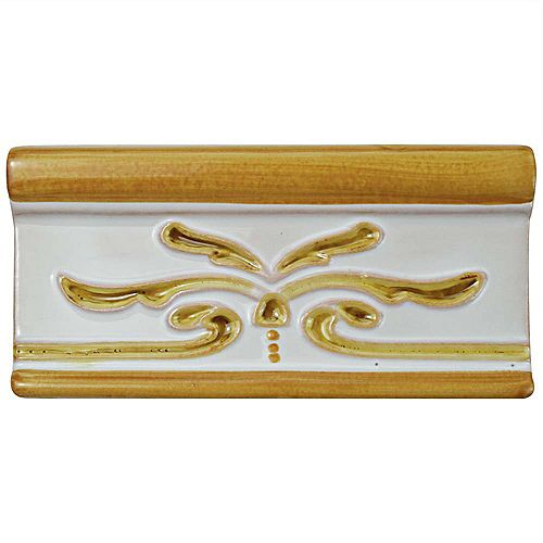 Merola Tile Novecento Cenefa Evoli Camel 2-5/8-inch x 5-1/8-inch Ceramic Wall Trim Tile (2.69 Ln. ft. / case)