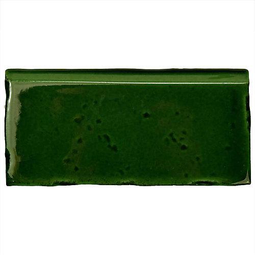 Novecento Zocalo Verdin 2-1/2-inch x 5-1/8-inch Ceramic Wall Trim Tile (2.69 Ln. ft. / case)