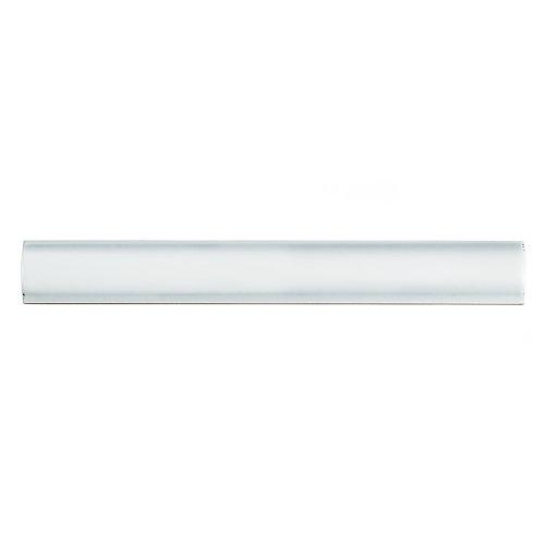 Moldura White 1-inch x 7-7/8-inch Ceramic Pencil Wall Trim Tile (8.13 Ln. ft. / case)
