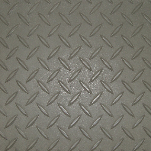 (2) 7.5 ft. x 24 ft. and (1) 5 ft. x 24 ft. Pewter Textured Diamond Deck, 2 Car Garage Kit