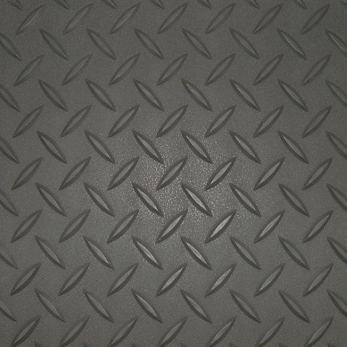 5 ft. x 9 ft. Charcoal Textured Diamond Pattern PVC Garage Flooring (Covers 45 sq.ft.)