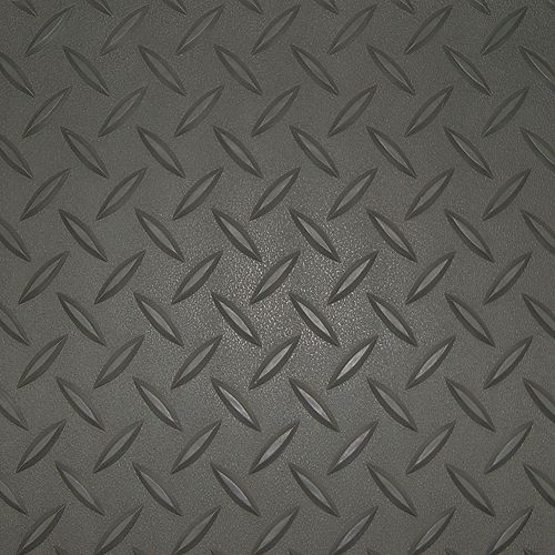 5 ft. x 15 ft. Charcoal Textured Diamond Pattern PVC Garage Flooring (Covers 75 sq.ft.)