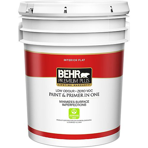 Behr Premium Plus Interior Flat Paint & Primer in One - Deep Base, 18.9 L