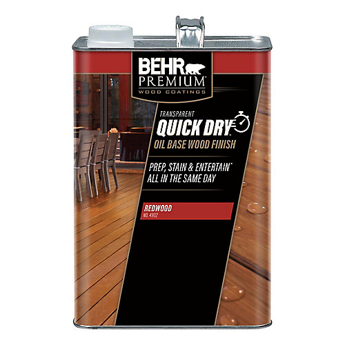 PREMIUM Quick Dry Oil Base Wood Finish in Redwood