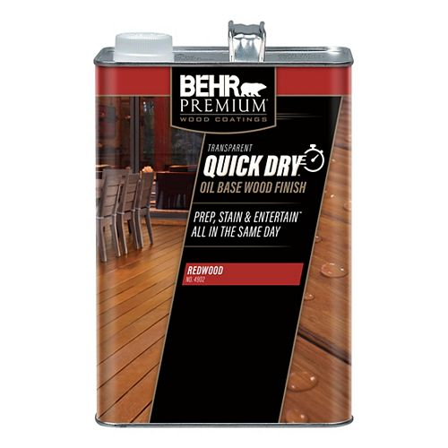 BEHR PREMIUM Quick Dry Oil Base Wood Finish in Redwood
