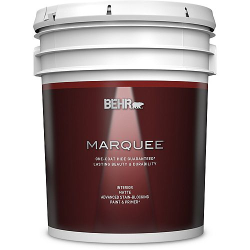 Behr Marquee Interior Matte Paint & Primer in One - Ultra Pure White, 18.9 L