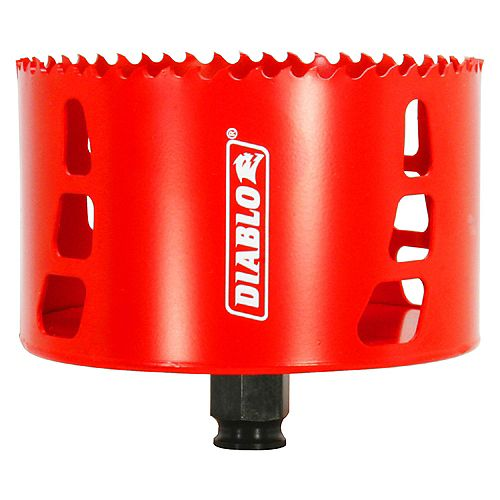 Diablo 4-1/4-inch Bi-Metal Hole Saw for Wood/Metal Cutting