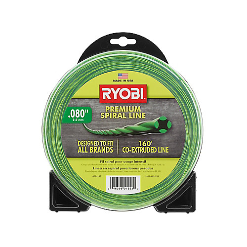 0.080-inch x 160 ft. Premium Spiral Cordless and Gas Trimmer Line