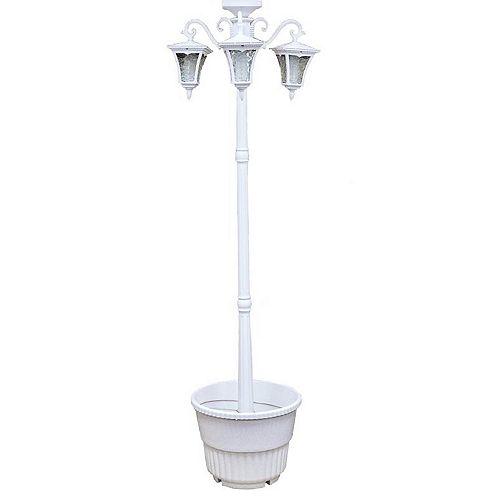 Lampadaire solaire Vittoria à trois têtes avec jardinière