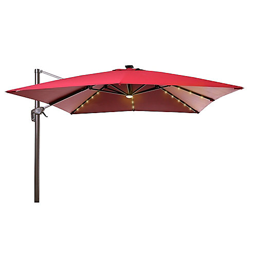 10 ft. Cantilever With Lights Red