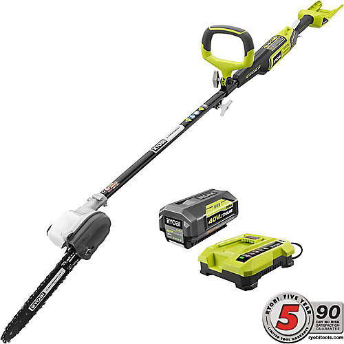 10-inch 40V Li-Ion Cordless Pole Saw with (1) 2.6 Ah Battery and Charger