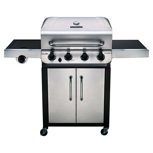 Performance 4-Burner Gas Grill in Stainless Steel