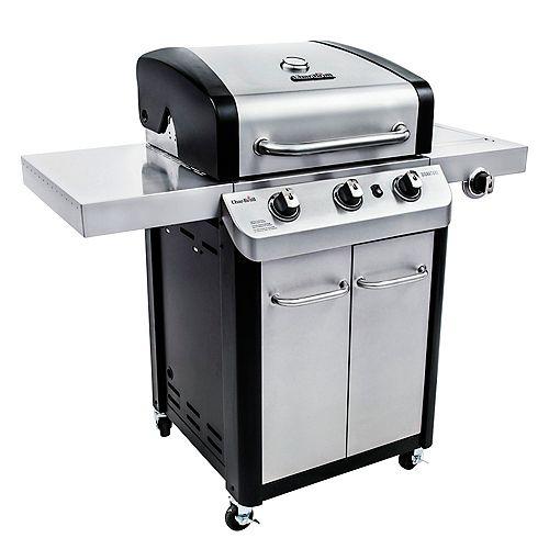 Char-Broil Barbecue au gaz à 3 brûleurs Signature, acier inoxydable et noir