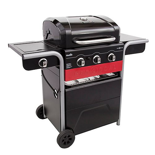 Char-Broil Gas2Coal® 3-Burner Hybrid Grill