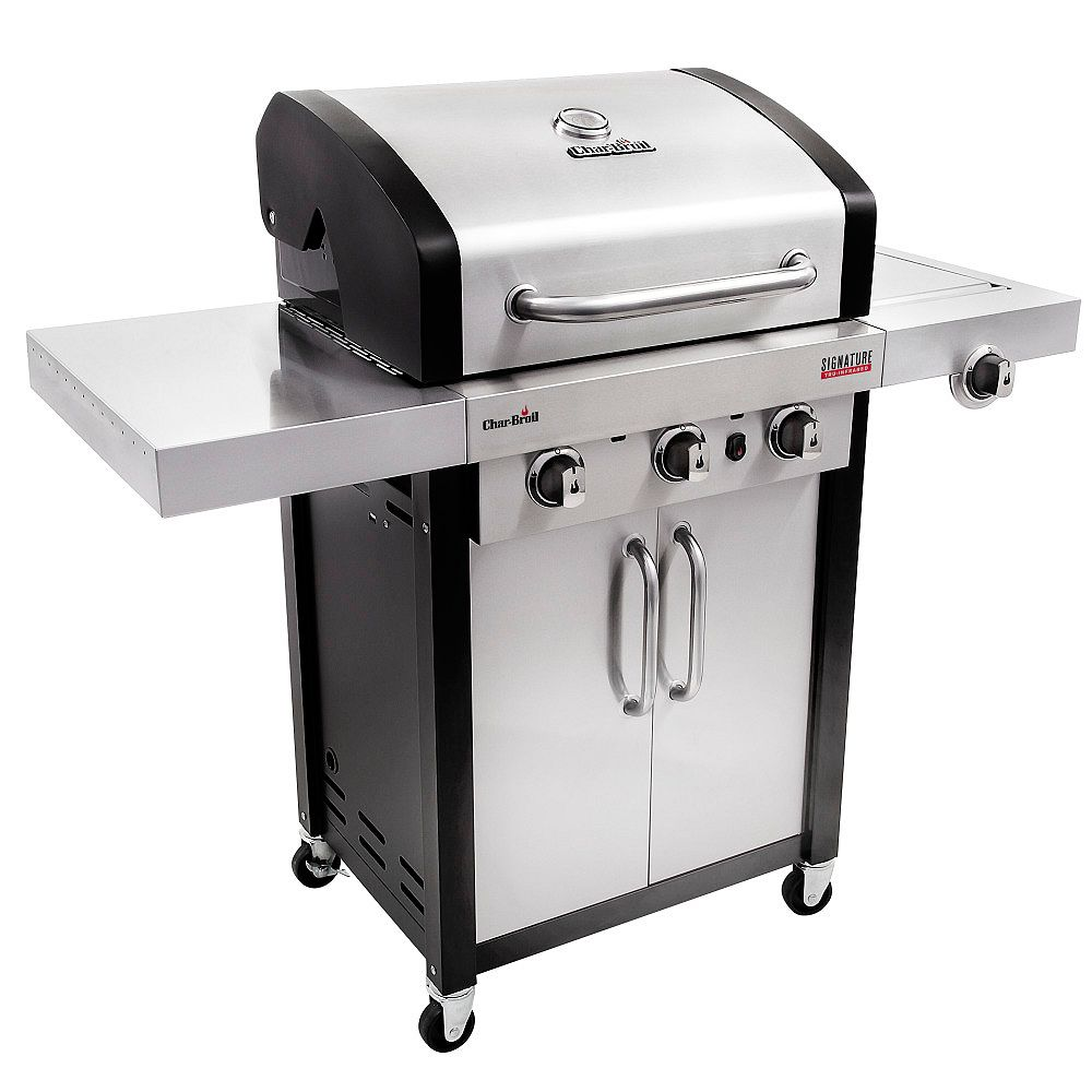 Char Broil Signature Series Tru Infrared 3 Burner Gas Bbq The Home Depot Canada