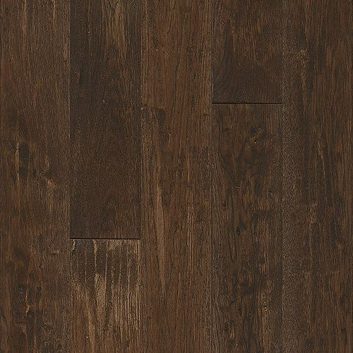 Hickory Coffee Flavor 3/4-inch T x 5-inch W x Varying L Solid Hardwood Flooring (23.5sq.ft./case)