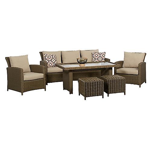 Oakmont 6-Piece High Table Patio Conversation Set