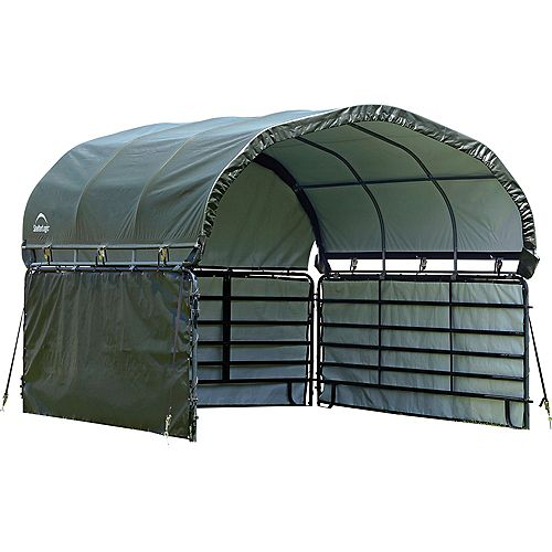 Enclosure Kit for Corral Shelter 12 x 12 ft. Green