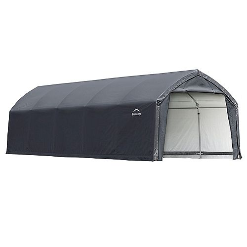 AccelaFrame HD 12 x 25 ft. Shelter Gray
