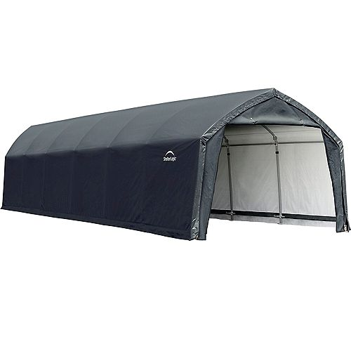 AccelaFrame HD 12 x 30 ft. Shelter Gray