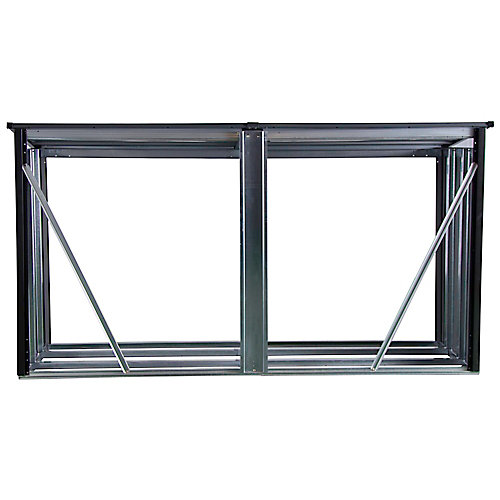 Porte-bûches Arrow de 8 x 2 pi Anthracite