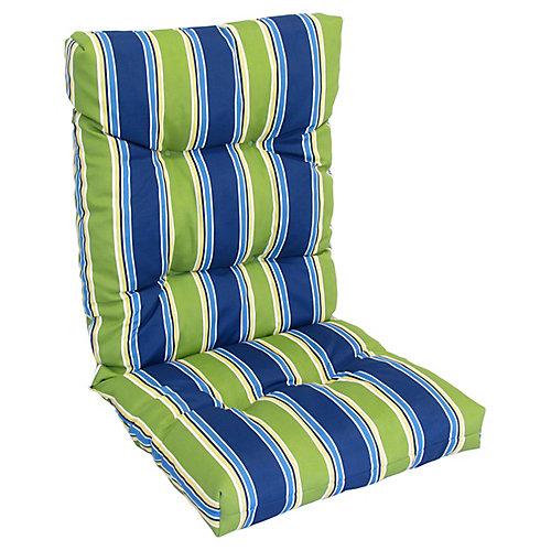High Back Cushion green/blue stripe
