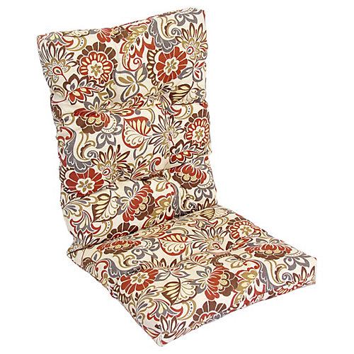 Highback Cushion red floral