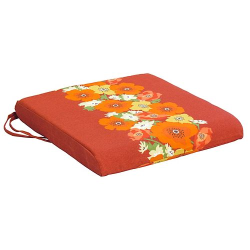 Seat Cushion red  floral