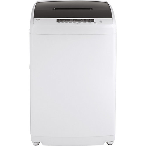 3.3 (IEC) Cu. Ft. Stationary Washer with Stainless Steel Basket in White