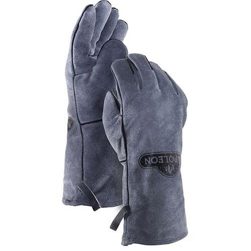 Genuine Leather BBQ Gloves in Grey