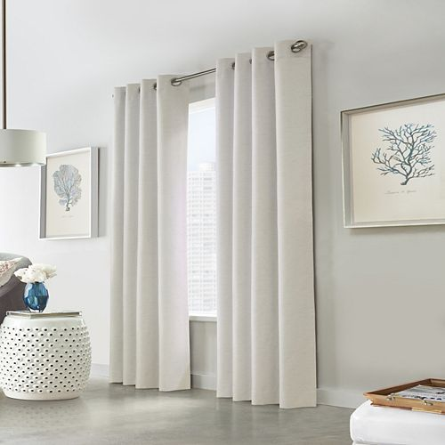 Versant 100% Blackout Grommet Curtain 52 inches width X 95 inches length, Off White
