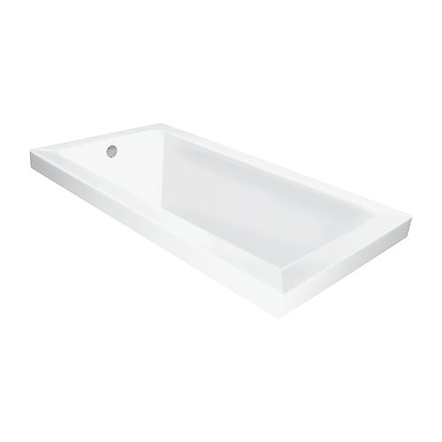 Moderno 60 inch White Podium or Drop-In Tub