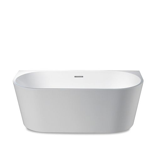 Sao Paolo 67 inch Seamless 1-Piece White Freestanding Tub