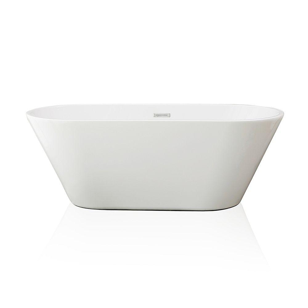 Jade Bath Baignoire Autoportante Monobloc Aura En Blanche 59 Po Home Depot Canada