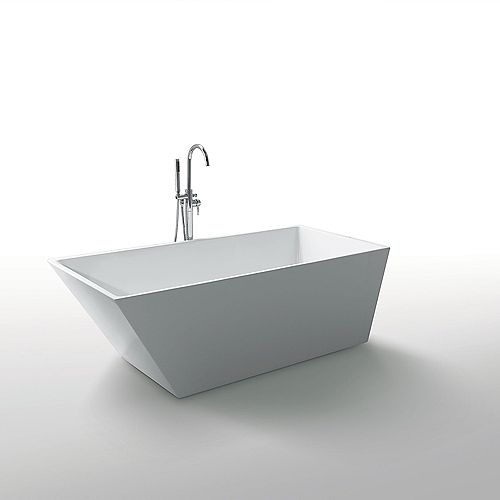 Jade Bath Morning Star 59 inch Seamless 1-Piece White Freestanding Tub