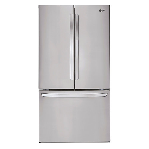 36-inch W 29 cu.ft. French Door Refrigerator in Finger Print Resistant Stainless Steel, ENERGY STAR